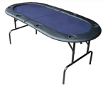 "73"" Foldable Texas Hold'em Poker Table w/ Legs - Blue"