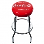 Coca-Cola Delicious Refreshing Vintage Chrome Stool
