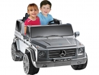 Mercedes Benz Battery Operated Ride On 12 Volt Truck Silver For Kids